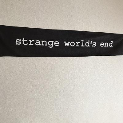【NEW GOODS⑤】  strange world's end ロゴ マフラータオル color / ブラック  ¥2,000