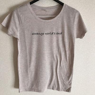 【NEW GOODS③】  strange world's end ロゴ レディースTシャツ color / オーロラヘザー S / M / L  ¥2,000
