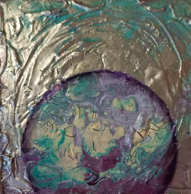 Pouring/Struktur/Silber 20x20cm Fr.120.00