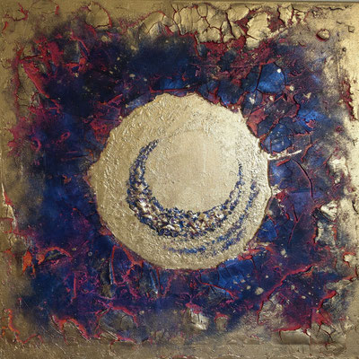 """""""Sonne/Mond Energie"""" 60x60cm Verkauft"""