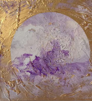Pouring/Struktur/Gold 20x20cm Fr.120.00