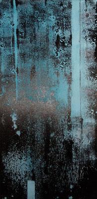 """Abstrakt"" mit Asphalt 30x60 Fr. 270.00"