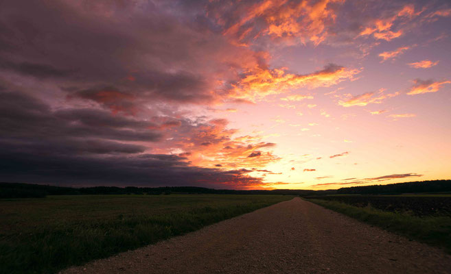 Road to the burning Sky; Alb Hochfläche Sigmaringen