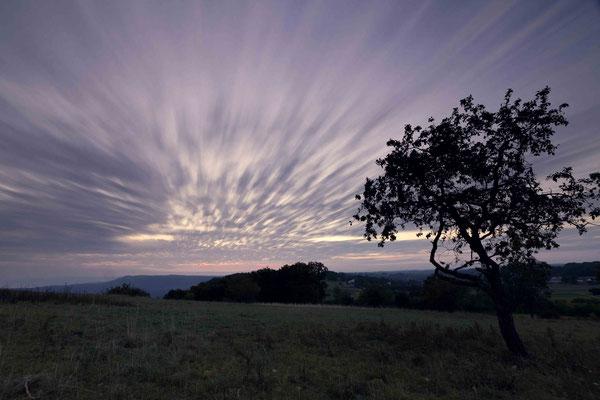 Ziehende Wolken am Morgen; Breitenstein