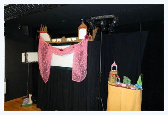 """Die Bühne für """"Dornröschen"""""""