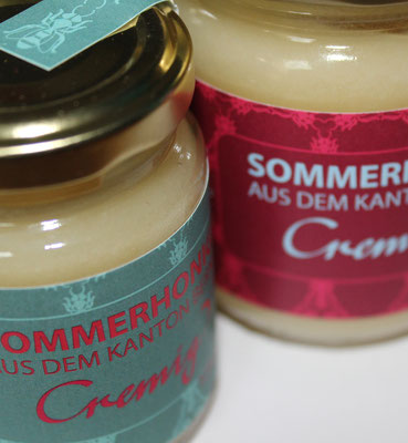 Etikette für Honig des Stadtberner Imkers Thomas Eberhard