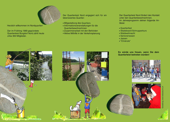 Faltprospekt für den Burgdorfer Quartierleist Nord