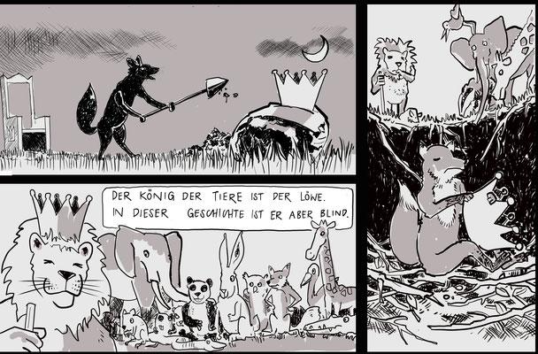 """Comic """"Der Blinde König"""" für eine Comic Werkstatt"""