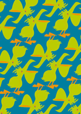 Pelikane für den Kartenverlag Petiteposte.