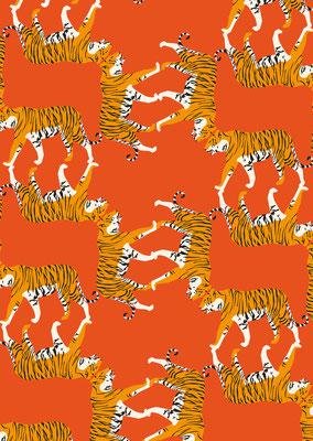 Tiger für den Kartenverlag Petiteposte.