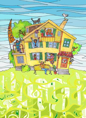 Postkarte für eine Kinder Tagesstätte in Bern