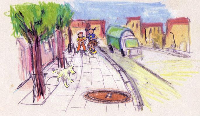 """Illustration für das Kinderbuch """"Leo und Lea""""..."""