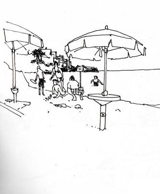 Am Strand von Camerota, Italien