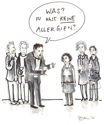 "Cartoon zum Thema ""Allergien"""