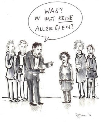 """Cartoon zum Thema """"Allergien"""""""