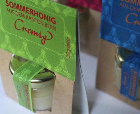 Verpackung für Honig des Stadtberner Imkers Thomas Eberhard