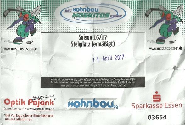Playoffs Halbfinale - Spiel 1 - ESC Moskitos Essen - Tilburg Trapper, Di. 11.04.2017