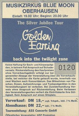 13.12.1988 Golden Earing - Silver Jubilee Tour Blue Moon Oberhausen mit Günther K. - https://www.setlist.fm/setlist/golden-earring/1988/blue-moon-oberhausen-germany-23c404f7.html