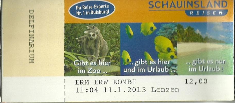 Damals kostete das Delphinarium noch extra im Duisburger Zoo