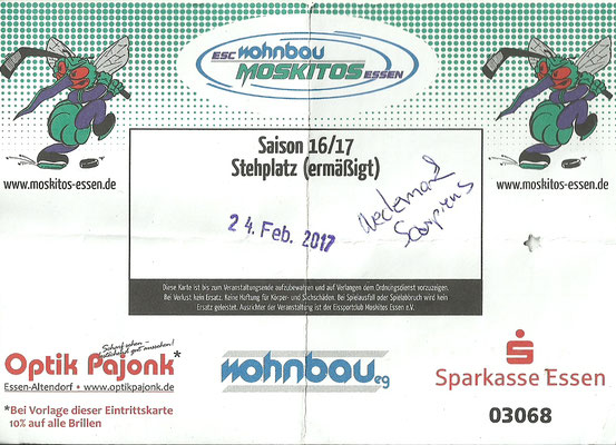 Moskitos Essen : Wedemark Scorpions, 24.02.17