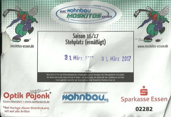 Playoffs Viertelfinale - Spiel 1 - ESC Moskitos Essen - EC Peiting,  Fr. 31.03.17