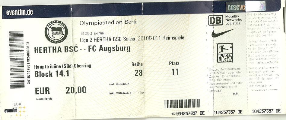 Der Aufstieg in die 1. Bundesliga war schon vor dem Spiel für den FCA perfekt