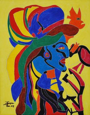 Monsieur, 40x50 cm, Acryl auf Leinwand