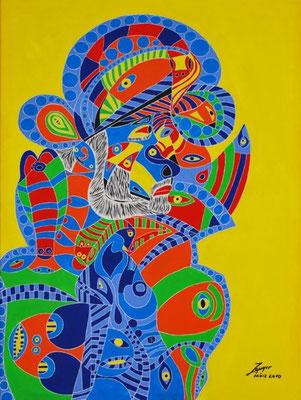 Der Inder, 60x80 cm, Öl auf Leinwand