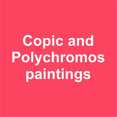 Copic and Polychromos paintings