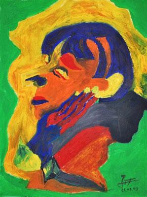 Portrait, 42x56 cm, Öl auf Papier