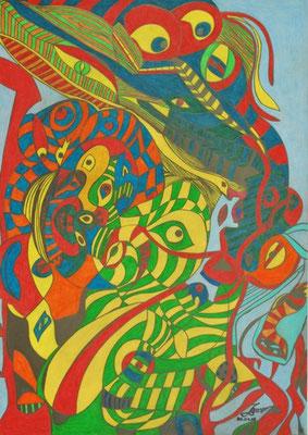 Tierparade (42 x 59 cm)