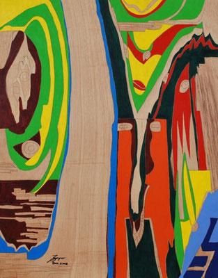 Tor zur Welt, 72x92 cm, Öl auf Holz