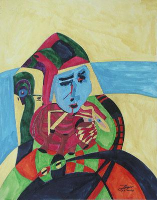 Venezianisch, 50x64 cm, Aquarell auf Papier