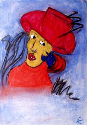 Der rote Baron, 70x100 cm, Kohle / Kreide auf Papier