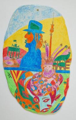 Berlin, 19x33cm, Keramikplast