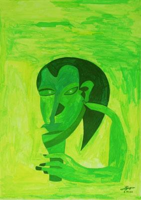 Santé, 50x70 cm, Aquarell auf Papier