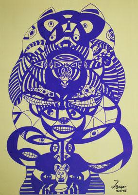 Affenkönig, 50x70 cm, Acryl auf Leinwand