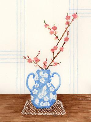 透明水彩:B4「Plum blossom」