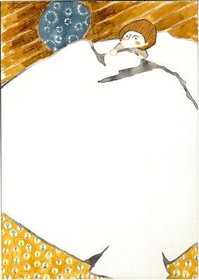 「アルプスの少女ハイジ」ヨハンナ・スピリ:カラーインク:B4