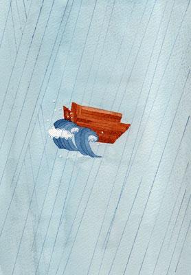 水彩:B6:「ノアの箱舟」