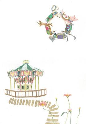 merry-go-round:B4:水彩