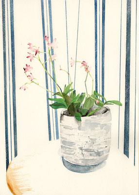 装画「こころ」夏目漱石:水彩