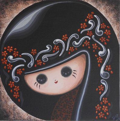 SOLD Little Kuro, acrylic on canvas