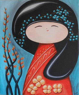 SOLD Maaya, 12 x 10 inch acrylic on canvas