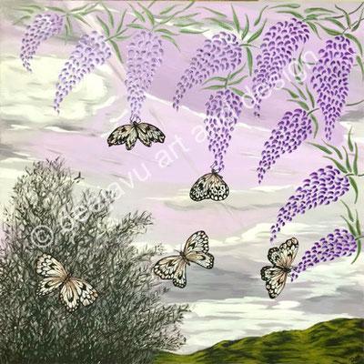 Lilac Sky, acrylic on canvas