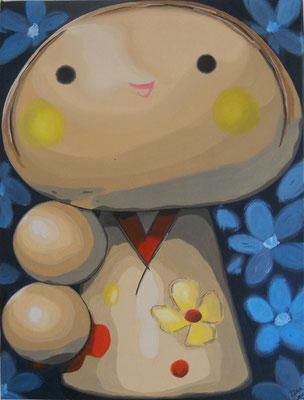 SOLD Little Girl' 15.5 x 12 inch acrylic on canvas