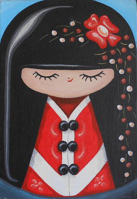 SOLD Red Hair, acrylic on canvas