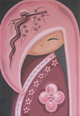 SOLD Little Pink, acrylic on canvas