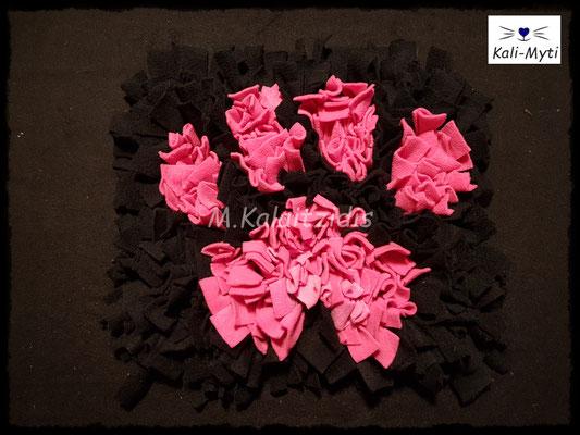 Motiv: Pfote - Größe M - Pink auf schwarz