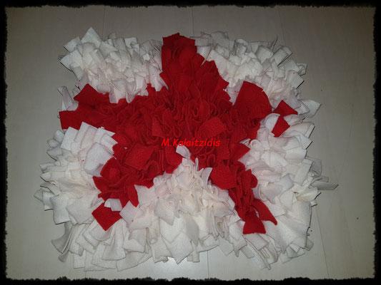 Motiv: Stern - Größe M - Rot auf Weiß